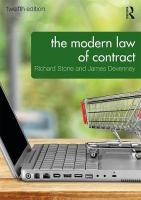 Modern Law of Contract 12th New edition
