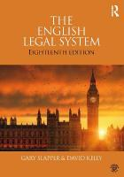 English Legal System: 2015-2016 18th New edition
