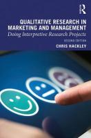 Qualitative Research in Marketing and Management: Doing Interpretive Research Projects 2nd New edition