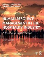 Human Resource Management in the Hospitality Industry: A Guide to Best Practice 10th New edition