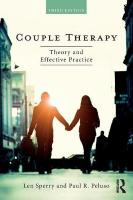 Couple Therapy: Theory and Effective Practice 3rd New edition