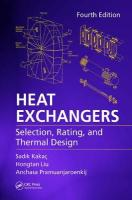 Heat Exchangers: Selection, Rating, and Thermal Design, Fourth Edition 4th New edition