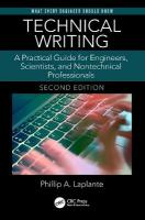Technical Writing: A Practical Guide for Engineers, Scientists, and Nontechnical Professionals,   Second Edition 2nd New edition