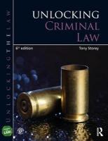 Unlocking Criminal Law 6th New edition