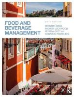 Food and Beverage Management 6th New edition