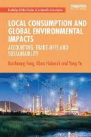 Local Consumption and Global Environmental Impacts: Accounting, Trade-offs and Sustainability