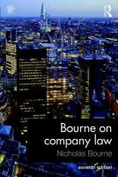 Bourne on Company Law 7th New edition