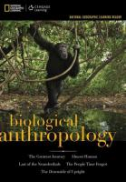 National Geographic Learning Reader Series: Biological Anthropology :    National Geographic Reader: National Geographic Reader New edition