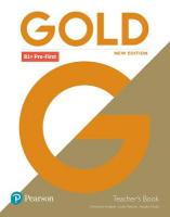 Gold B1plus Pre-First New Edition Teacher's Book with Portal access and   Teacher's Resource Disc Pack 2nd edition