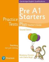 Practice Tests Plus Pre A1 Starters Teacher's Guide 2nd edition