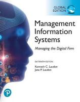 Management Information Systems: Managing the Digital Firm plus Pearson MyLab   MIS with Pearson eText, Global Edition 16th edition