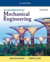 Introduction to Mechanical Engineering, SI Edition 4th edition