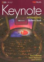 Keynote Intermediate: Student's Book with DVD-ROM and MyELT Online Workbook,   Printed Access Code: Student's Book with DVD-Rom and Online Workbook Student edition, B1, Student's Book