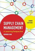 Supply Chain Management: A Learning Perspective 3rd Revised edition