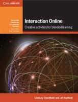 Cambridge Handbooks for Language Teachers: Creative Activities for Blended Learning, Interaction Online: Creative Activities for Blended Learning