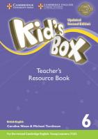Kid's Box Level 6 Teacher's Resource Book with Online Audio British English Updated edition