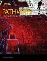 Pathways: Listening, Speaking, and Critical Thinking 4 2nd edition