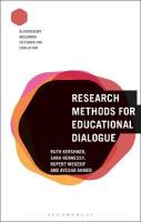 Research Methods for Educational Dialogue