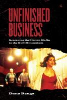 Unfinished Business: Screening the Italian Mafia in the New Millennium
