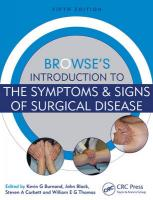 Browse's Introduction to the Symptoms & Signs of Surgical Disease 5th New edition