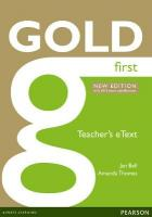 Gold First New Edition eText Teacher CD-ROM 2nd edition, First, Gold First New Edition eText Teacher CD-ROM