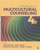 Handbook of Multicultural Counseling 4th Revised edition