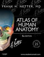 Atlas of Human Anatomy: Including Student Consult Interactive Ancillaries and Guides 6th Revised edition