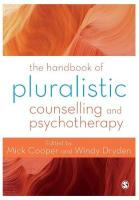 Handbook of Pluralistic Counselling and Psychotherapy 1