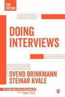 Doing Interviews 2nd Revised edition