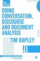 Doing Conversation, Discourse and Document Analysis 2nd Revised edition