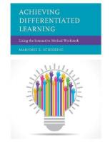Achieving Differentiated Learning: Using the Interactive Method Workbook