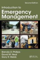 Introduction to Emergency Management 2nd New edition