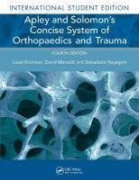 Apley and Solomon's Concise System of Orthopaedics and Trauma 4th Revised edition
