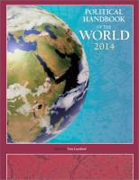 Political Handbook of the World 2014: 2 Volumes 2014 2014 ed.