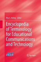 Encyclopedia of Terminology for Educational Communications and Technology 2013 ed.