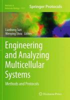 Engineering and Analyzing Multicellular Systems: Methods and Protocols Softcover reprint of the original 1st ed. 2014