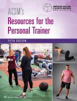 ACSM's Resources for the Personal Trainer 5th edition
