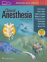 Clinical Anesthesia, 8e: Print plus Ebook with Multimedia 8th edition