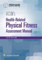 ACSM's Health-Related Physical Fitness Assessment 5th edition