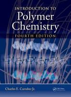 Introduction to Polymer Chemistry 4th New edition