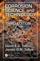 Corrosion Science and Technology 3rd New edition