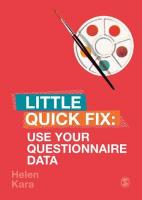 Use Your Questionnaire Data: Little Quick Fix