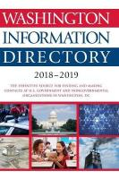 Washington Information Directory 2018-2019