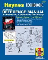 Automotive Reference Manual & Illustrated Automotive Dictionary illustrated edition