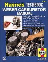 Weber/Zenith Stromberg/Su Carburetor Manual