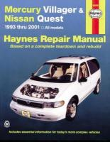 Mercury Villager & Nissan Quest (93 - 01): 1993 to 2001 2nd Revised edition