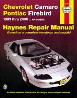 Chevrolet Camaro & Pontiac Firebird (93 - 02) illustrated edition