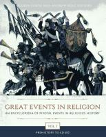 Great Events in Religion [ 3 volumes]: An Encyclopedia of Pivotal Events in Religious History