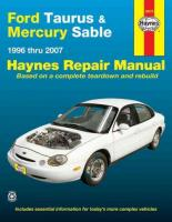 Ford Taurus & Mercury Sable: 1996-07