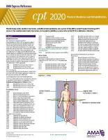 CPT 2020 Express Reference Coding Card: Physician Medicine and Rehabilitation